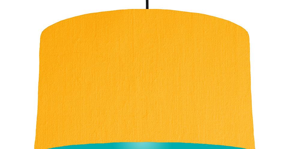 Sunshine & Turquoise Lampshade - 50cm Wide
