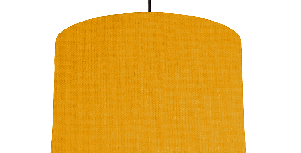 Mustard & White Lampshade - 30cm Wide