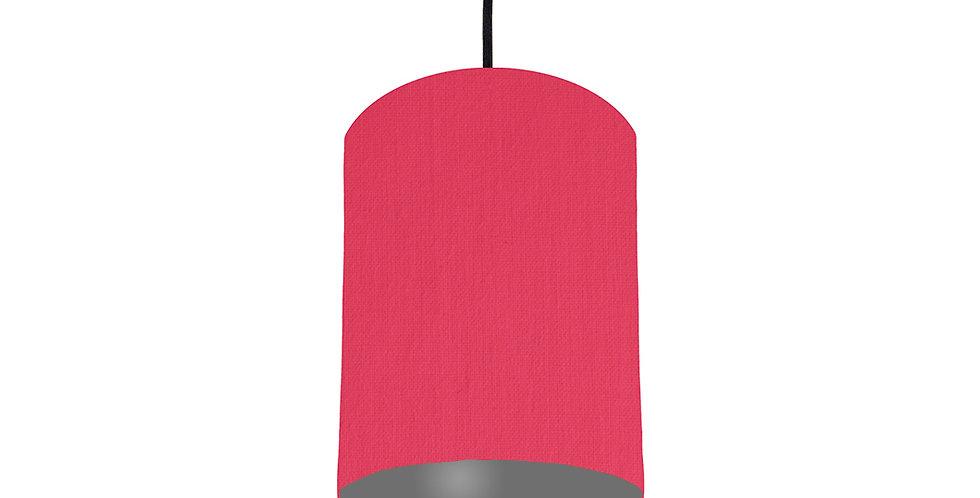 Cerise & Dark Grey Lampshade - 15cm Wide