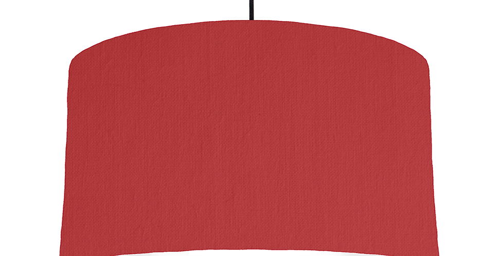 Red & White Lampshade - 50cm Wide