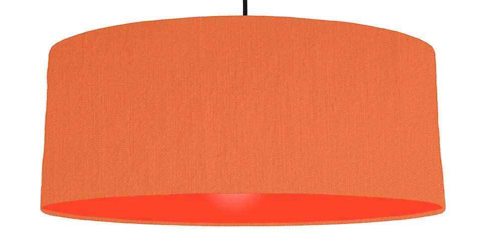 Orange & Poppy Red Lampshade - 70cm Wide