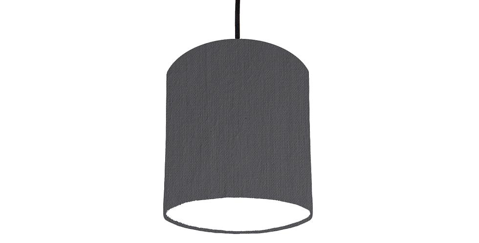 Dark Grey & White      Lampshade - 15cm Wide