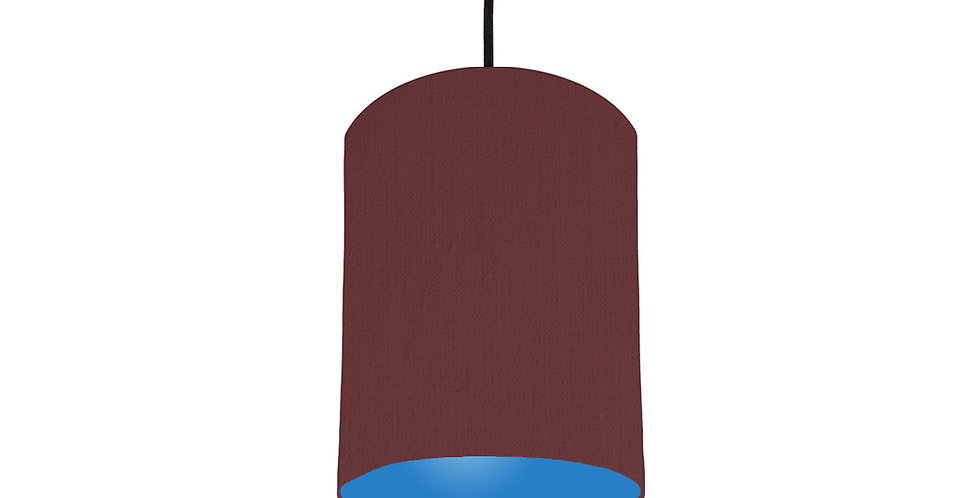 Wine Red & Bright Blue Lampshade - 15cm Wide