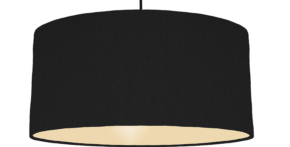 Black & Ivory Lampshade - 60cm Wide
