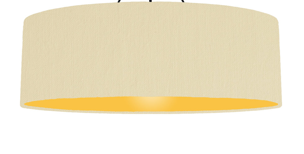 Natural & Butter Yellow Lampshade - 100cm Wide