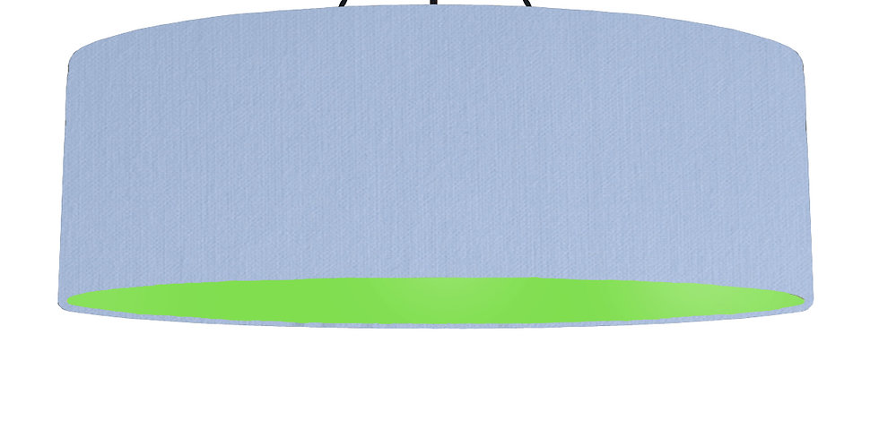 Sky Blue & Lime Green Lampshade - 100cm Wide