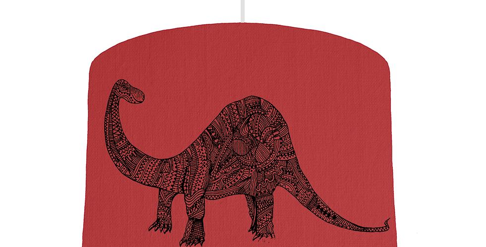 Dinosaur Shade - Red Fabric