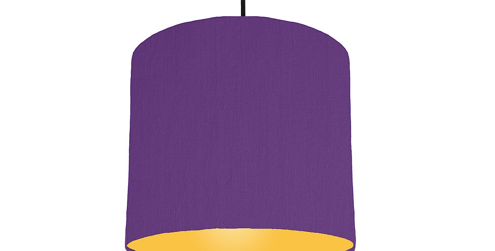 Violet & Butter Yellow Lampshade - 25cm Wide