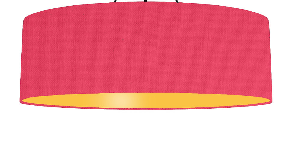Cerise & Butter Yellow Lampshade - 100cm Wide