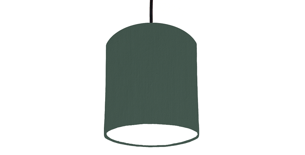 Bottle Green & White Lampshade - 15cm Wide
