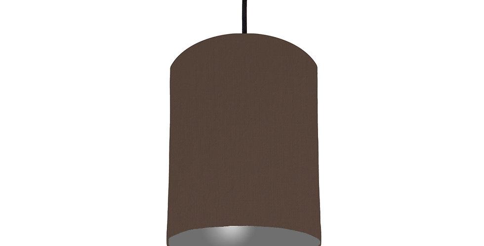 Brown & Dark Grey Lampshade - 15cm Wide