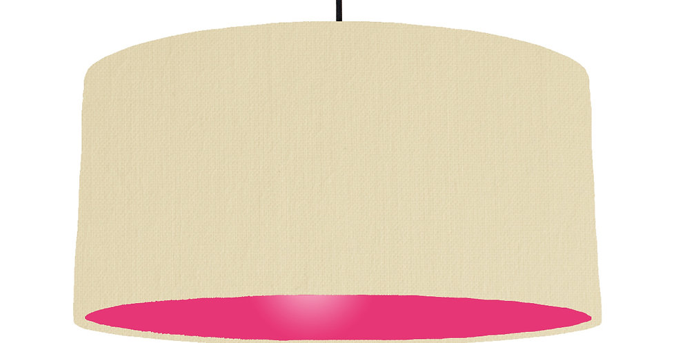 Natural & Magenta Lampshade - 60cm Wide