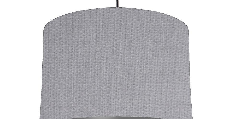 Light Grey & Dark Grey Lampshade - 30cm Wide