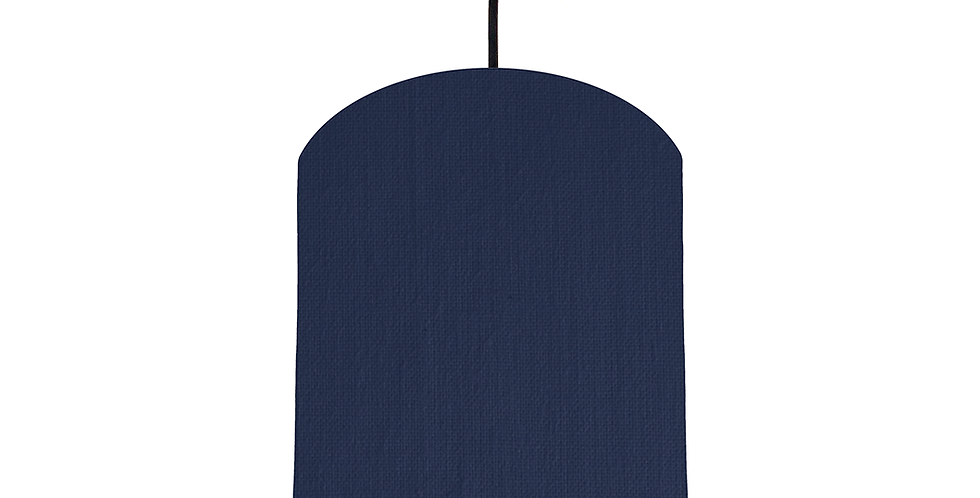 Navy & Silver Mirrored Lampshade - 20cm Wide