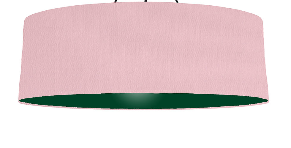 Pink & Forest Green Lampshade - 100cm Wide