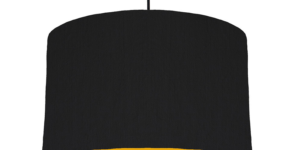 Black & Mustard Lampshade - 40cm Wide