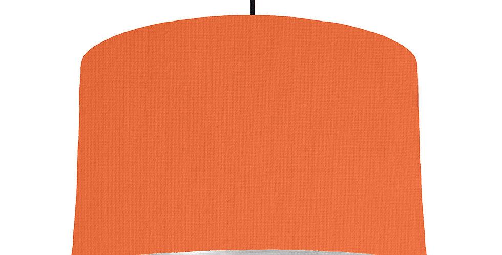 Orange & Brushed Silver Lampshade - 40cm Wide