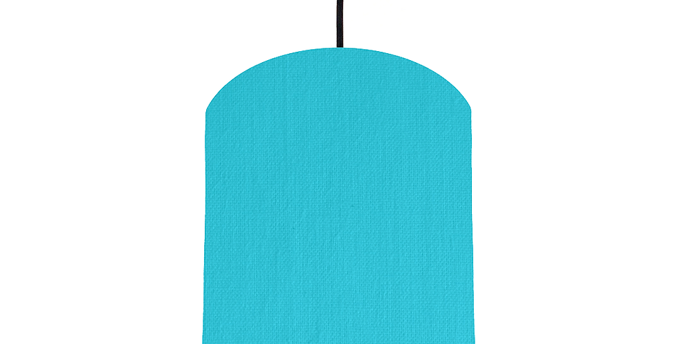Turquoise & Gold Mirrored Lampshade - 20cm Wide