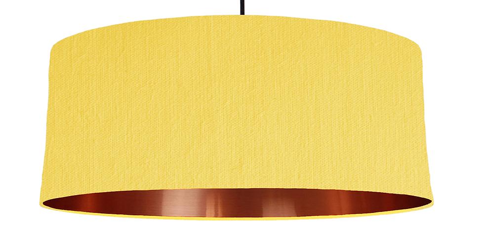 Lemon & Copper Mirrored Lampshade - 70cm Wide