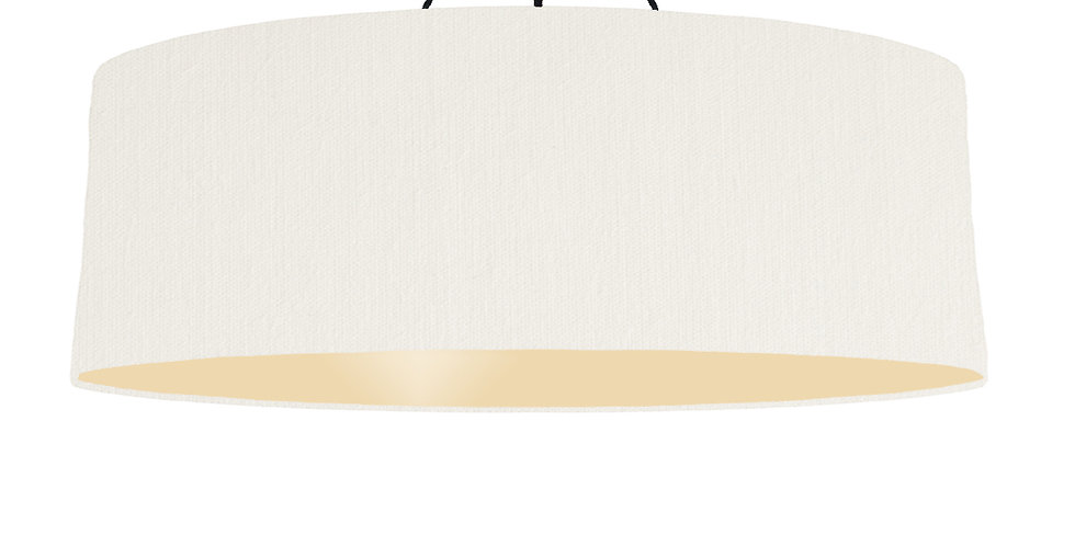 White & Ivory Lampshade - 100cm Wide
