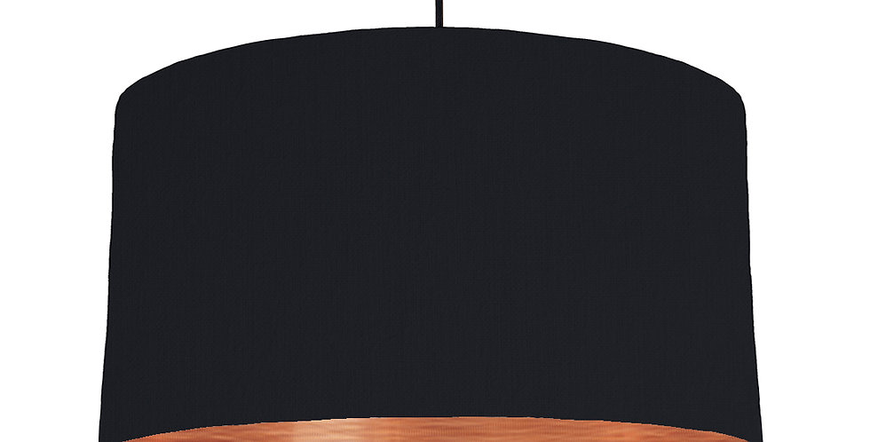 Black & Brushed Copper Lampshade - 50cm Wide