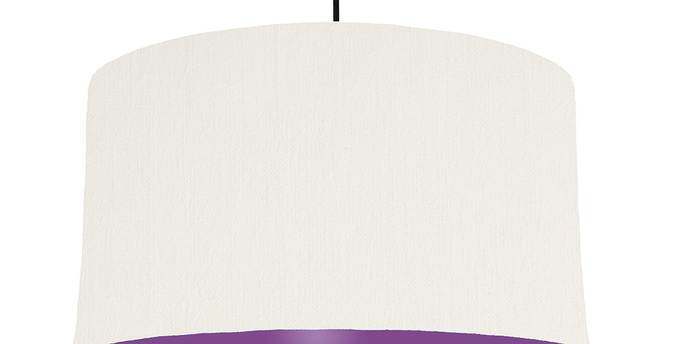 White & Purple Lampshade - 50cm Wide