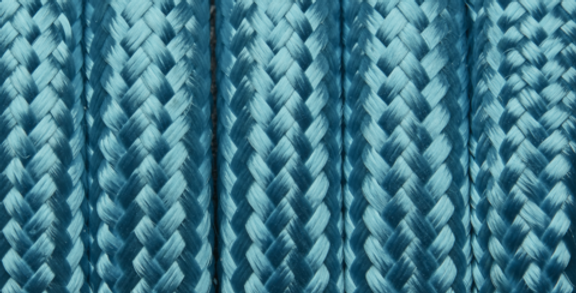 Light Blue - Industville Round Fabric Cable