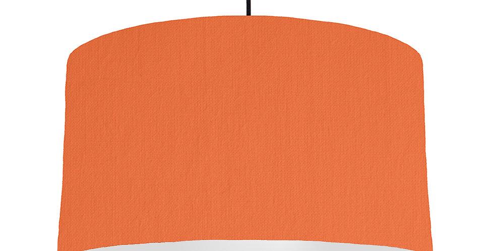 Orange & Light Grey Lampshade - 50cm Wide
