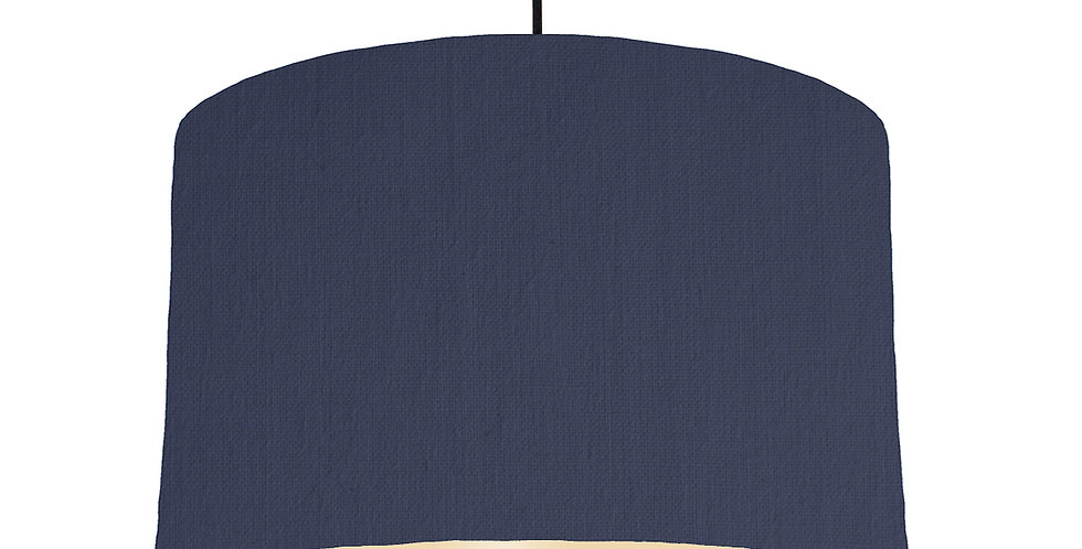 Navy Blue & Ivory Lampshade - 40cm Wide