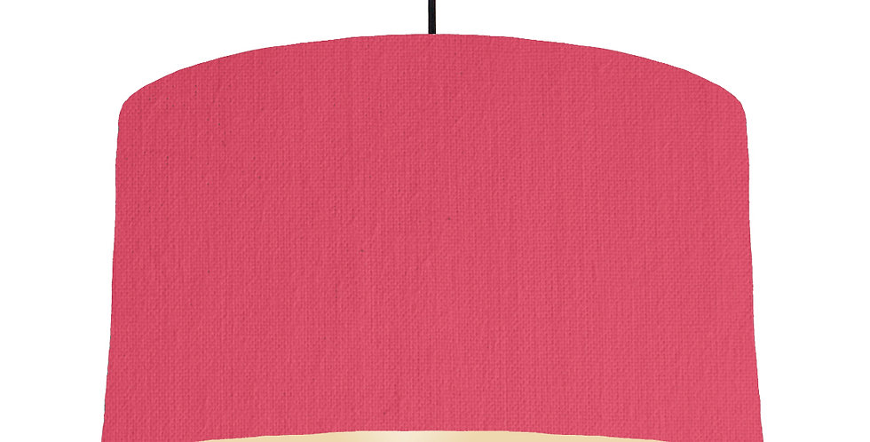 Cerise & Ivory Lampshade - 50cm Wide