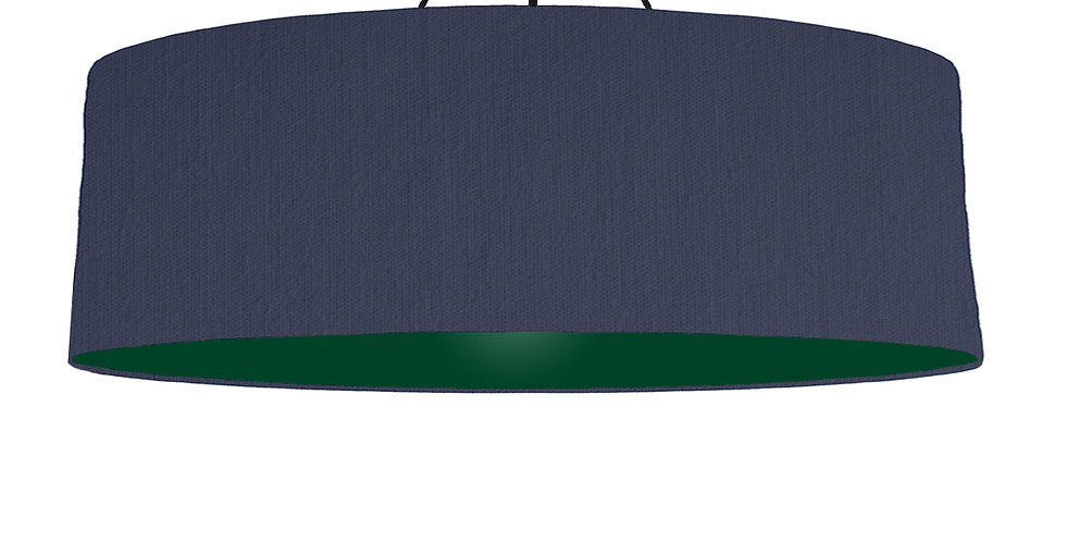 Navy Blue & Forest Green Lampshade - 100cm Wide
