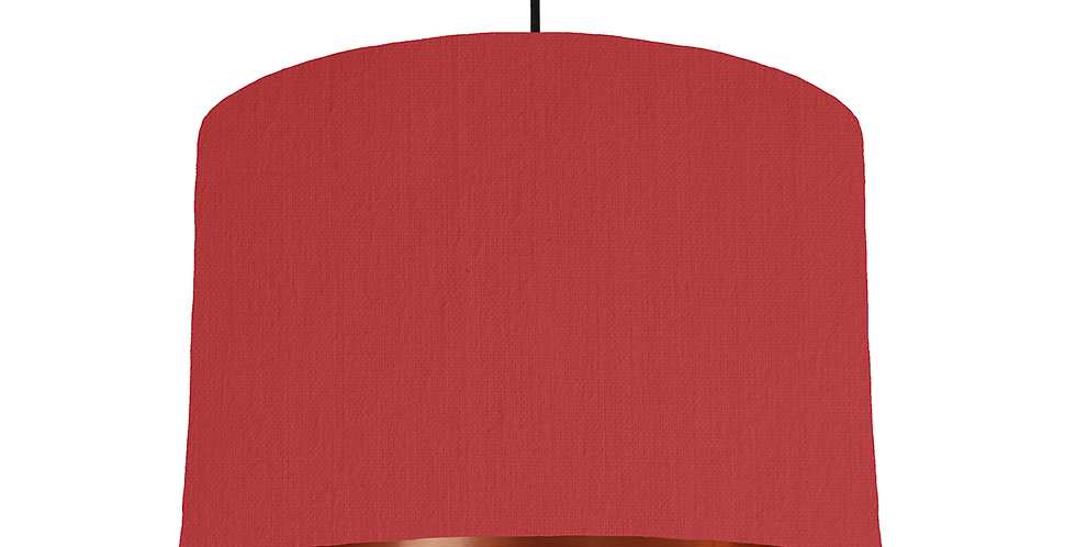 Red & Copper Mirrored Lampshade - 30cm Wide