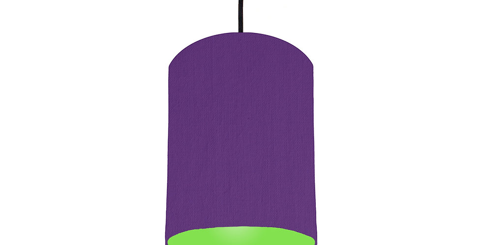 Violet & Lime Green Lampshade - 15cm Wide