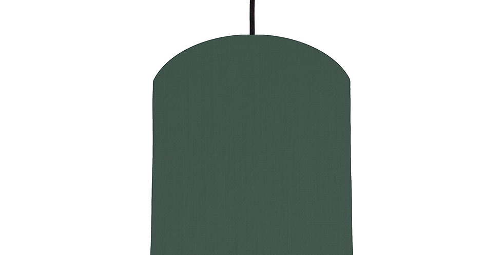 Bottle Green & Light Grey Lampshade - 20cm Wide