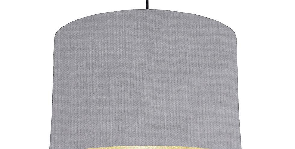 Light Grey & Gold Matt Lampshade - 30cm Wide