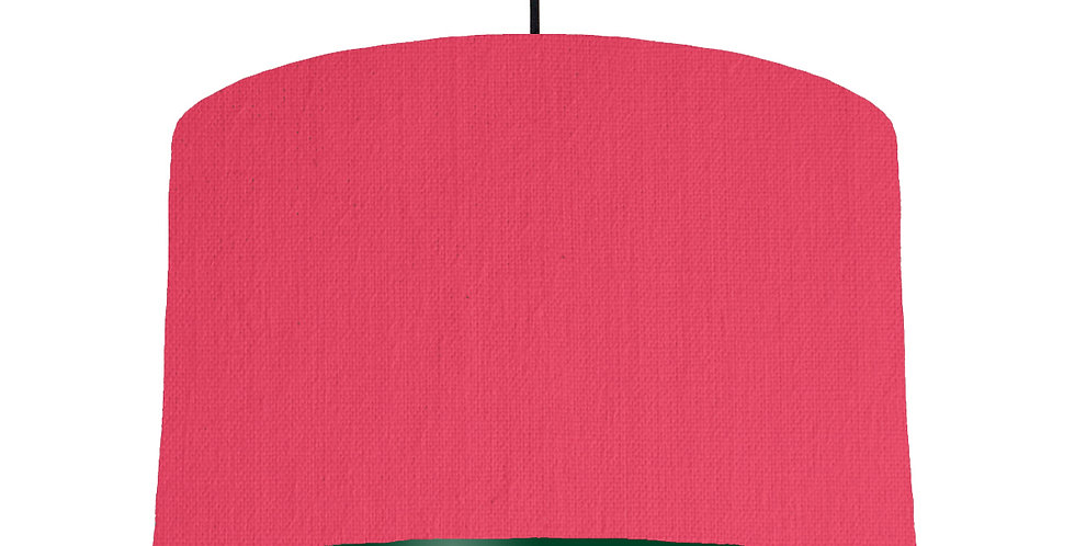 Cerise & Forest Green Lampshade - 40cm Wide