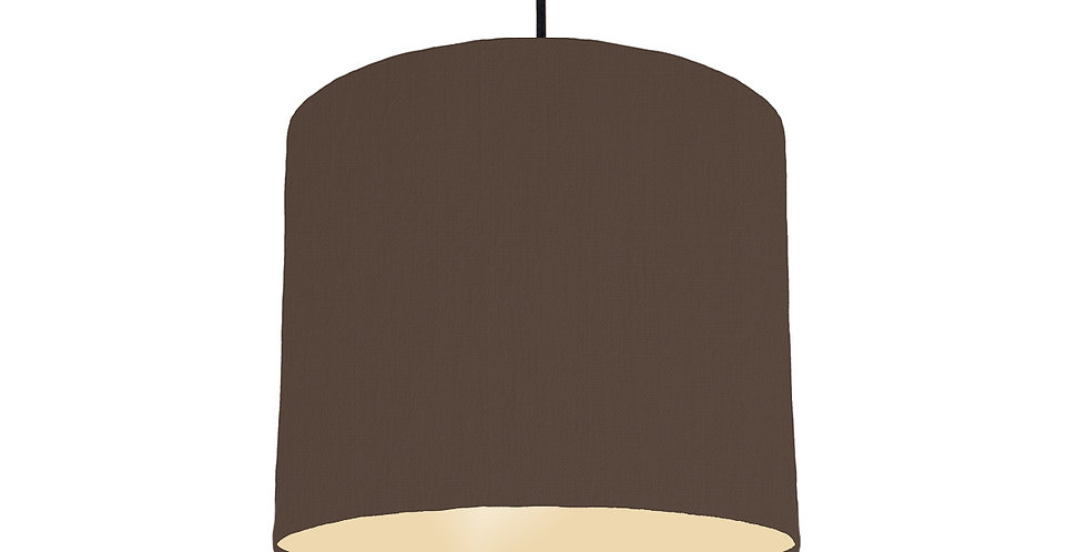 Brown & Ivory Lampshade - 25cm Wide