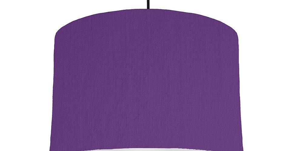 Violet & Light Grey Lampshade - 30cm Wide