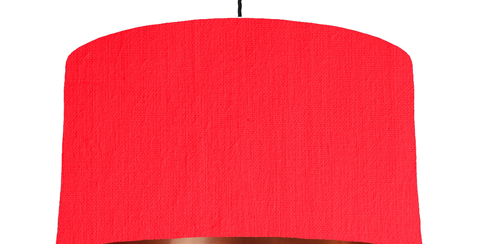Neon Pink & Copper Mirrored Lampshade - 50cm Wide