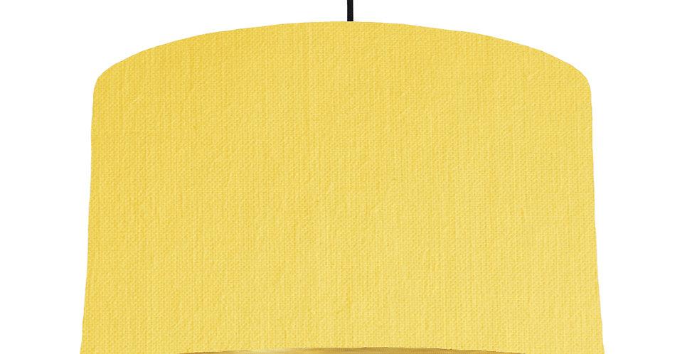 Lemon & Brushed Gold Lampshade - 50cm Wide