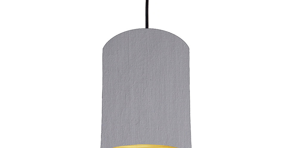 Light Grey & Brushed Gold Lampshade - 15cm Wide