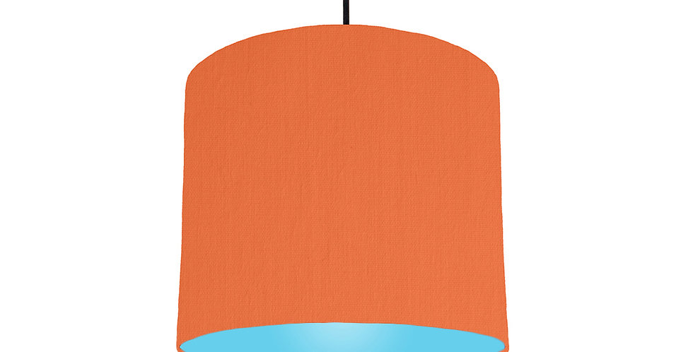 Orange & Light Blue Lampshade - 25cm Wide