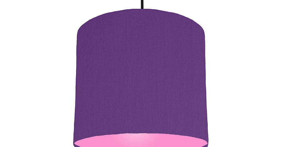 Violet & Pink Lampshade - 25cm Wide