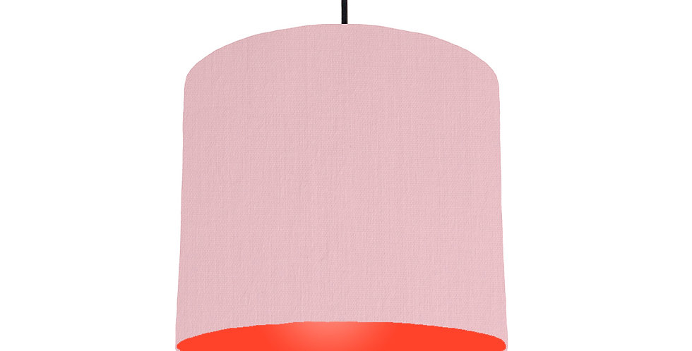 Pink & Poppy Red Lampshade - 25cm Wide