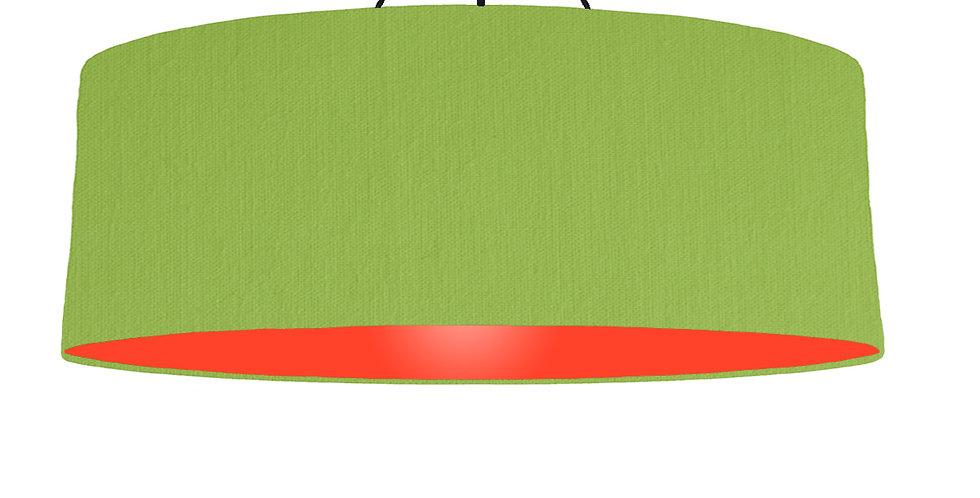 Pistachio & Poppy Red Lampshade - 100cm Wide