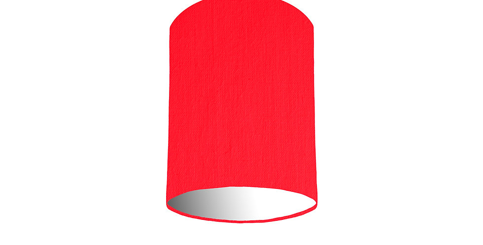 Neon Pink & White Lampshade - 15cm Wide