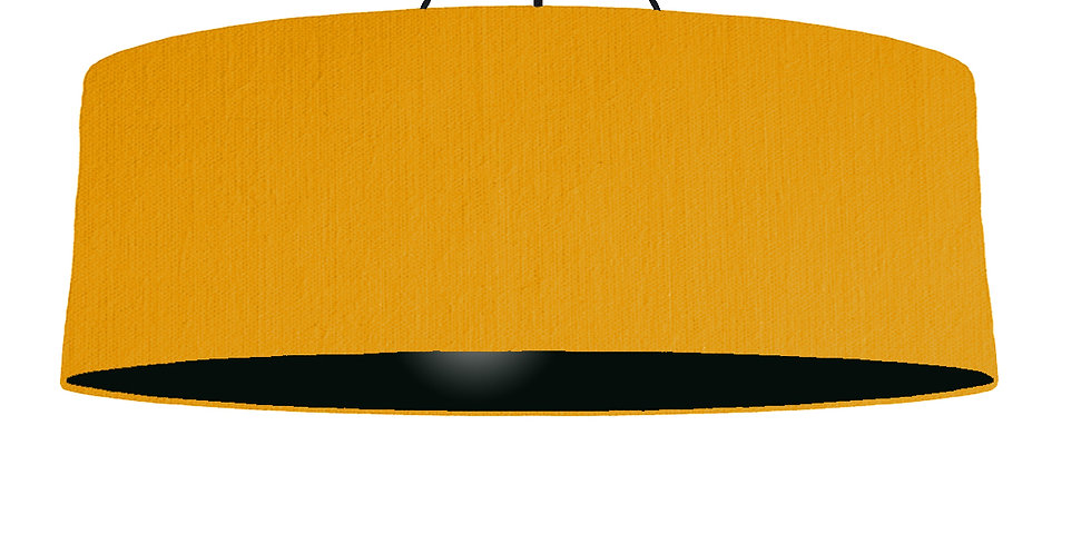 Mustard & Black Lampshade - 100cm Wide