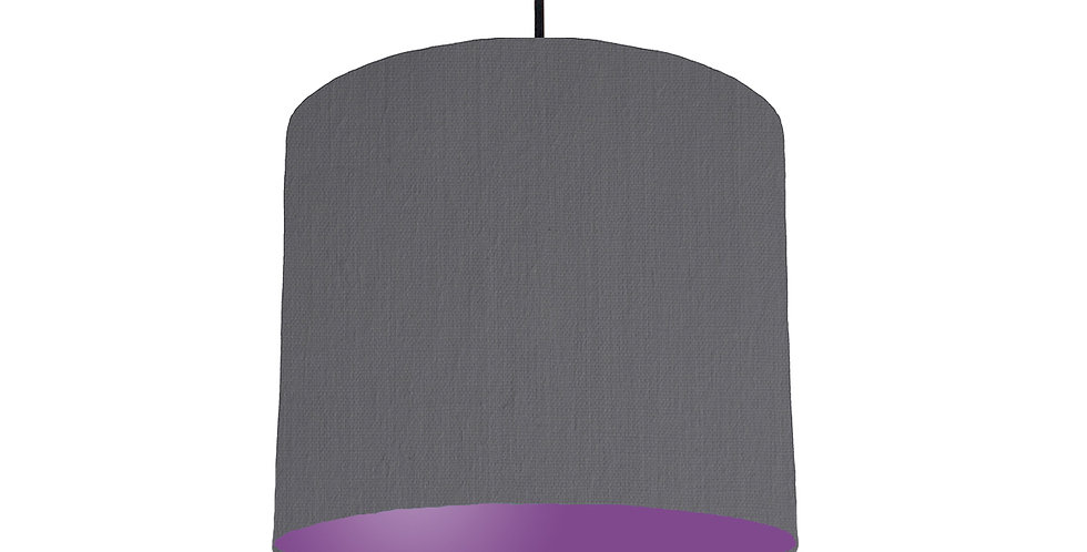 Dark Grey & Purple Lampshade - 25cm Wide