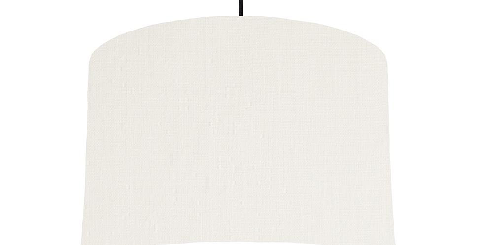 White & White Lampshade - 30cm Wide