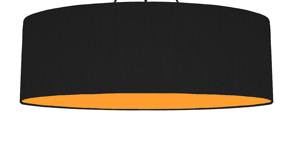 Black & Orange Lampshade - 100cm Wide